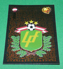 N°254 LITUANIE LATVIJA BADGE PANINI FOOTBALL UEFA EURO 2004 PORTUGAL