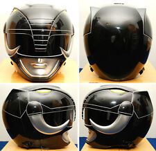 NEW Aniki Cosplay Power Rangers sentai Zyuranger Black Ranger helmet costume