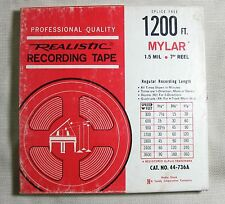 """Realistic Magnetic Audio Recording Tape 7"""" Reel to Reel 1200ft"""