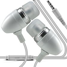 White Premium Earphone Handsfree With Mic For Samsung Galaxy S3 Mini
