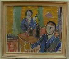 Sven Svensson 1906-1999, Interieur mit Figuren, um 1950