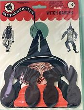 1927 BEISTLE DANCING WITCH honeycomb halloween historic