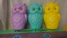 Vintage Outdoor RV Party Camping Patio Lights  Lites Large 9 Owls C-7 String Box