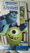 MONSTERS UNIVERSITY VALENTINES 34 CARDS & 35 STICKERS NEW IN BOX (GREAT DEAL)