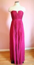 J Crew Petite Nadia Long Dress Silk Chiffon 0P P0 Wild Beet Red Formal Gown