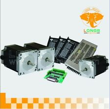 【German Ship&Free Ship】Nema 23 Stepper Motor 435oz-in,4.2A/50VDC 3Axis CNC Mill