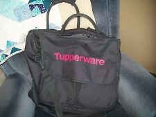 Tupperware Large Consultant Bag Grey with deep Pink Logo