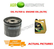PETROL OIL FILTER + FS F 5W30 ENGINE OIL FOR FORD FUSION 1.4 80BHP 2002-12