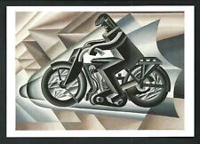 Fortunato Depero : Il Motociclista - cartolina moderna del 2005