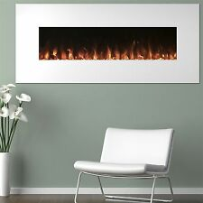 White Electric Fireplace with Color Changing Effects Remote 50 x 21 I