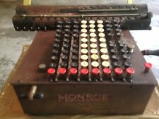 Patented June 16, 1908 Vintage Monroe All-Metal Calculator Adding Machine