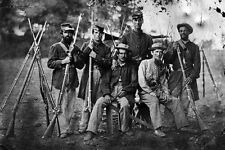 New 5x7 Civil War Photo: Group of Unidentified Soldiers