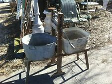 Antique Vintage Clothes Wash Machine Wringer 1898 Wood Ad Anchor Erie PA Lovell