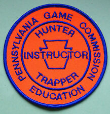 "Pennsylvania Pa Game Commission 4"" Hunter Trapper Ed Instructor Uniform Patch"