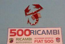 FIAT 500 F/L/R ADESIVO 3D FREGIO METALLICO SCORPIONE ABARTH ROSSO SMALTATO