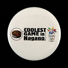 """1998 NHL Coolest Game In Nagano 2 1/4"""" Pinback Button"""