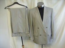 """Mens Suit James Barry grey double breasted size 40 waist 34"""" leg 30"""" 0498"""