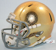 NOTRE DAME IRISH (Gold Textured) Riddell Speed Mini Helmet