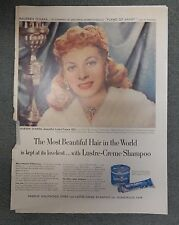 Lustre Creme Shampoo With Lanolin Magazine Advertisement Ad Maureen O'Hara Rare