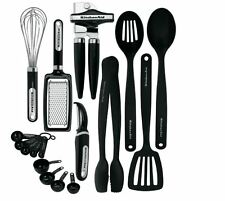 KitchenAid Dishwasher Safe Black 17-piece Kitchen Tool and Gadget Set