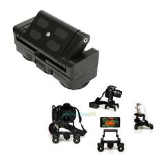 Foldable Tricycle Rail Cars 1/4'' Screw Mount Plate For DSLR Camera Gopro Canon