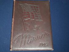 1945 THE MIRROR CENTRAL HIGH SCHOOL YEARBOOK - LIMA OHIO - GREAT PHOTOS - YB 543
