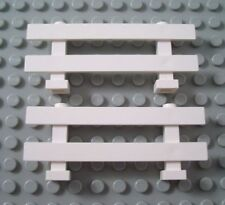 ☀️New LEGO Lot of 2 White 1x8x2 Horse Rail Fence Pieces