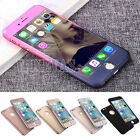 Hybrid 360° Shockproof Case Tempered Glass Cover For Apple iPhone 5s SE 6s Plus