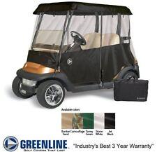 Drivable Person Golf Car Cart Enclosure Cover - Fits 2 Person Cart - Black