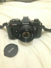 Vintage Retro Black Vivitar V3000s SLR 35mm Film Camera Vivitar 50mm 1.7 MC Lens