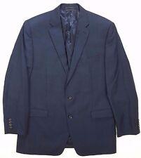 LAUREN Ralph LAUREN Suit 44L Mens BLUE Windowpane CHECK Wool 2 BUTTON Lined SIZE