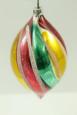 Antique Handblown Glass Christmas Ornament Made Germany Multicolor Handpainted