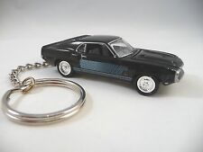 1969 Ford Mustang Shelby GT 500 KeyChain Black '69 Shelby GT-500 Key Chain