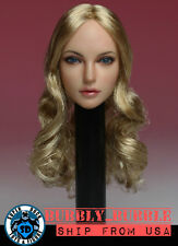 1/6 Female Head Sculpt American European B For Hot Toys Phicen SHIP FROM USA