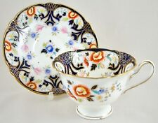 ANTIQUE WILEMAN FOLEY SHELLEY CHINA IMARI CUP & SAUCER 7074 C.1900