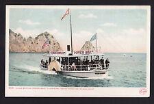 c1907 glass bottom boat  Cleopatra Santa Catalina Island California postcard