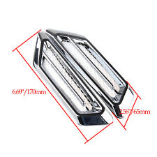 Universal Chrome Side Fender Air Flow Mesh Medium Vents for Auto Car SUV Silver
