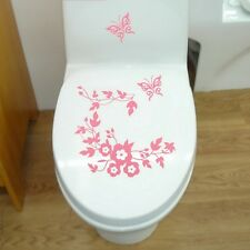 Butterfly Flower Bathroom Toilet Laptop Wall Decals Sticker for Home Decorations