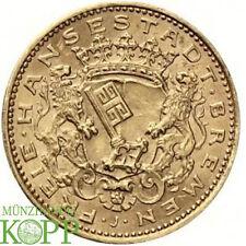 G144) J.205 BREMEN 20 Mark 1906 J Freie Hansestadt Gold