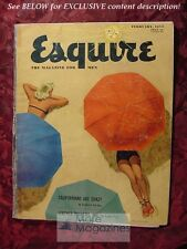 ESQUIRE February 1953 Feb 53 DANIELLE LAMAR SHELBY FOOTE GERALD MCBOING-BOING