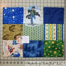 BonEful Fabric COTTON QUILT Lot Green Harry Potter Wizard S Toad Frog Magic Star