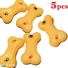 5x Pet Dog Chew Toy Play Playing Bone Squeaky Toy Squeaker PBONE9501x5