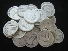 No Date ROLL (40) $10 Standing Liberty Quarters 90% SILVER - Item# 4705