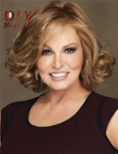 Sexy Raquel Welch Brown Short Women Ladies Wig Curly Full Hair Wigs Free Cap