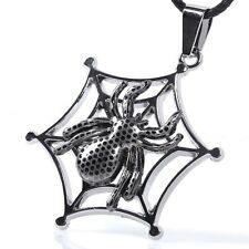 NEW Jewelry Fashion COOL  titanium steel COOL PUNK spider Necklace #5