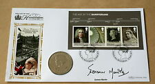 HOUSE OF HANOVER MS 2001 BENHAM COIN FDC SIGNED BY ACTRESS DOREEN MANTLE