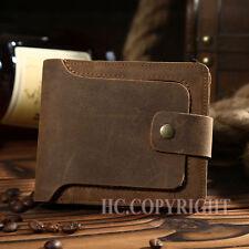 Men Vintage Real Leather Card Case Money Organizer Wallet Purse Short Nap Holder