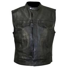 Gilet Giubbotto Pelle Uomo Moto Colletto BIKER SAMCRO S.O.A. Sons Anarchy 2XL XX