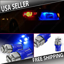 2 pc Ultra Blue LED License Plate Light Bulbs 10-LED Wedge Push Type