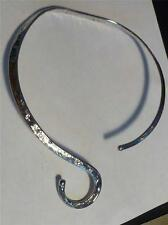 Hammered German Silver NECKWIRE Necklace